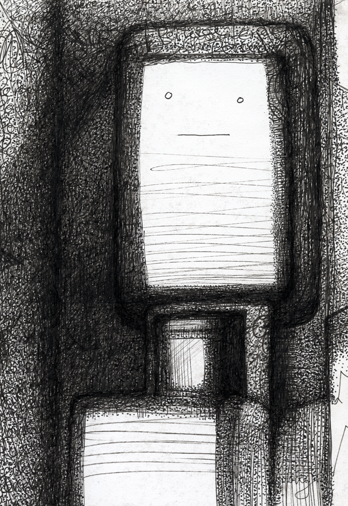"""The Patient Little Robot from """"82 Dreamscapes"""" by Misha Bittleston"""